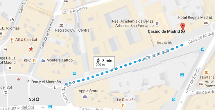 Casino Sol Walking Route